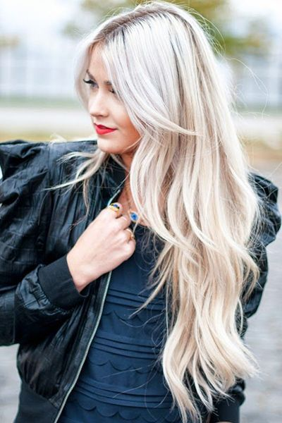 Long blonde haircuts