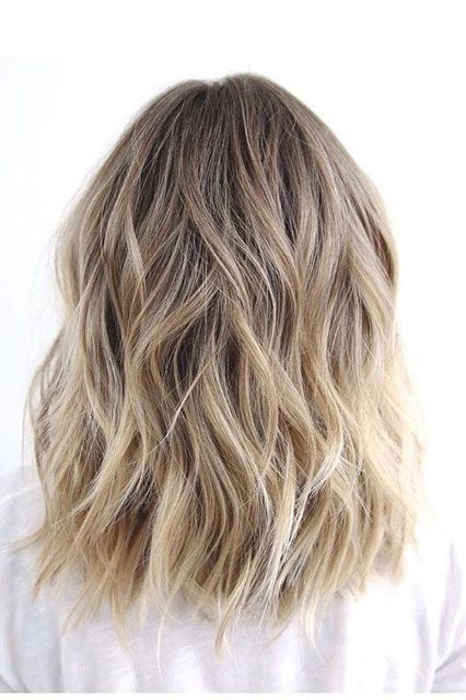 cute ombre blonde hair