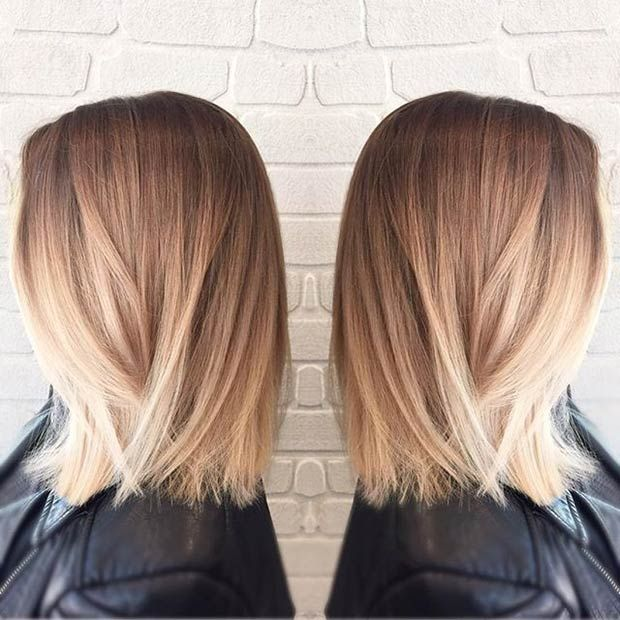 medium blonde bob hairstyle