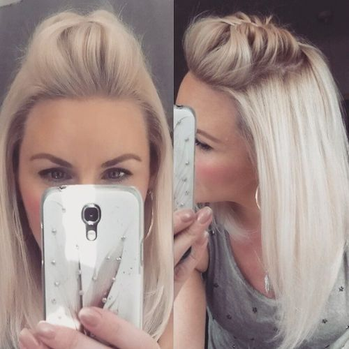 medium haircuts blonde