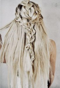 Boho Braids Back Headband hairstyle