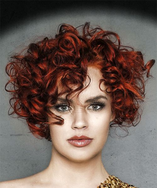 CURLS WITH RED HIGHLIGHTS