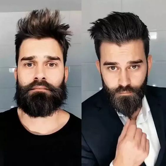 Trendy mens haircut