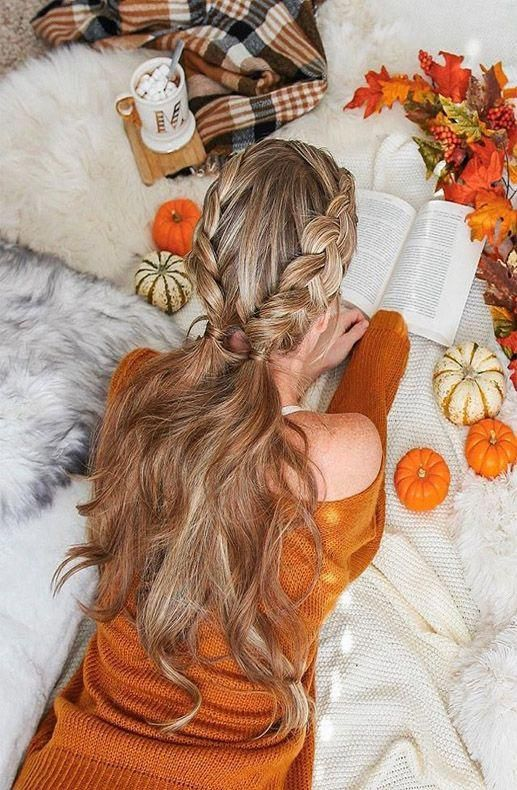 Double Boho Braid hair