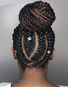 Five Braids Bun hairstyle