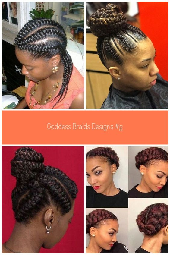 Five Braids Bun hairstyles