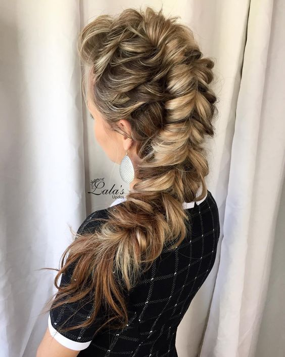 Half Up Pull Through Braid hairstyle