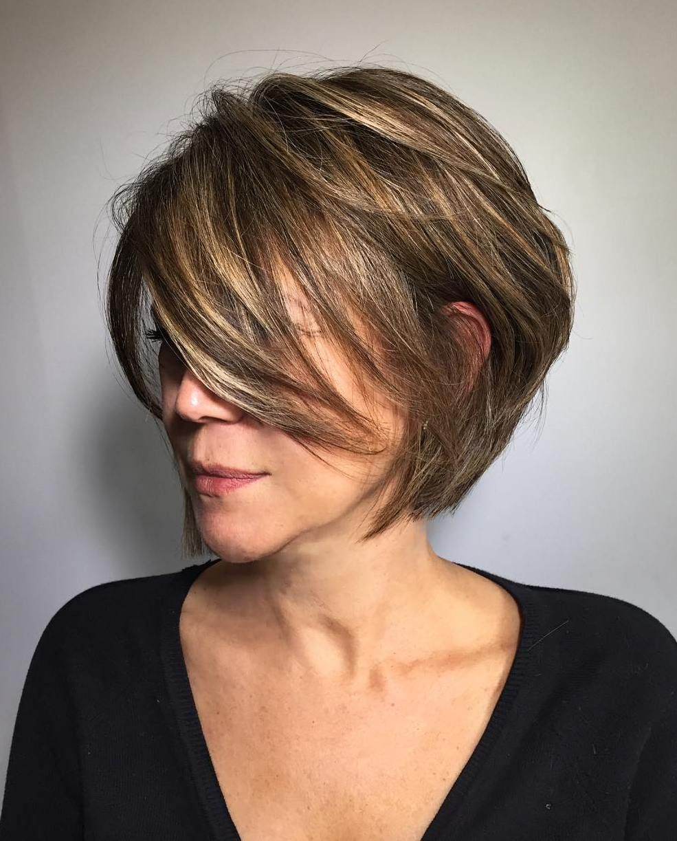 Layered bob hairstyles for over 40