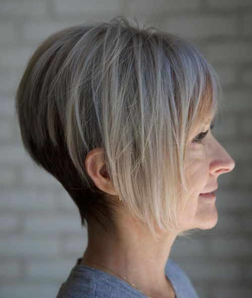 Layered pixie bob hairstyles for over 40