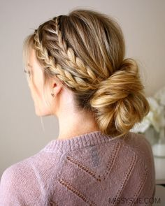 Triple Braided Bun